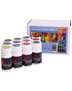 Ashford Wool Dye Collection 12 x 10gm