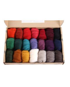 Fibre Sampler Pack - Corriedale Darks