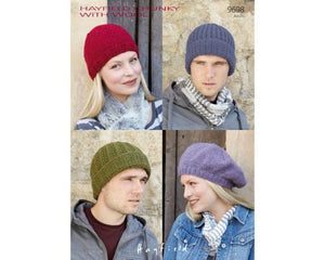 Hats in Hayfield Chunky with Wool