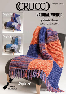 Knitting Pattern - Natural Wonder Throw -1569