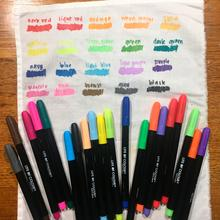 Fabric Pens - 20 Vibrant Colours