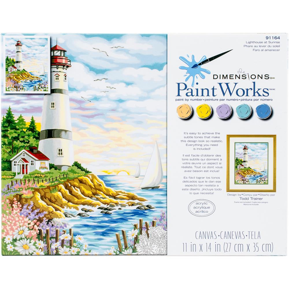 Paint by Numbers - Lighthouse at Sunrise