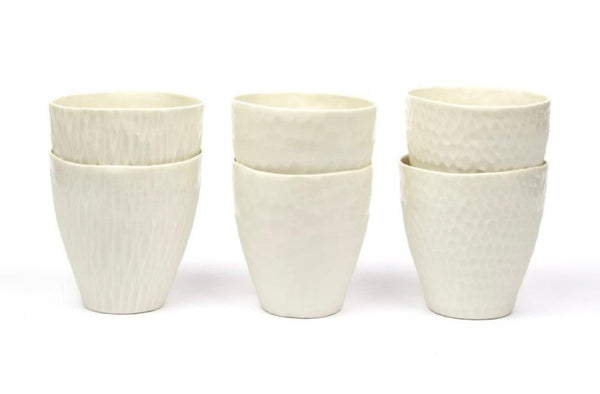 Cups, white porcelain