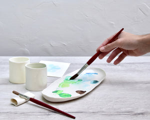 Painting Set, white porcelain