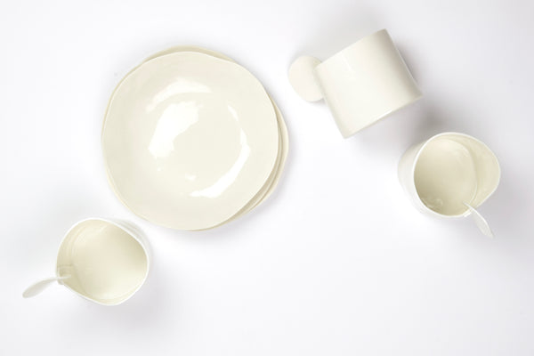 Tea or Coffee Cups, white porcelain