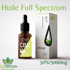 Huile Bio Chanvre 30%/3000mg de CBD STILLA® FULL SPECTRUM