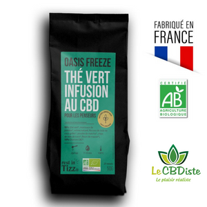 OASIS FREEZE Thé Vert Infusion Bio au CBD BY TIZZ®