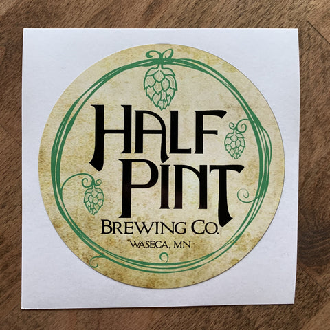 Round Half Pint Logo Stickers