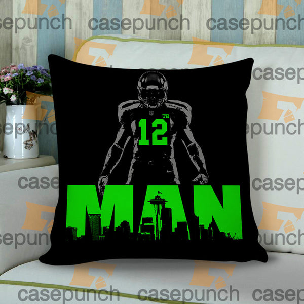 Sr1-12th Man Seattle Seahawks Cushion Pillow Case