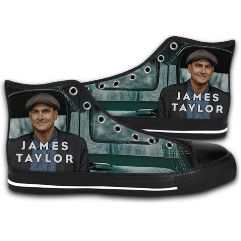2016 James Taylor Singer Tour CANVAS STYLE SHOES FASHION SNEAKERS