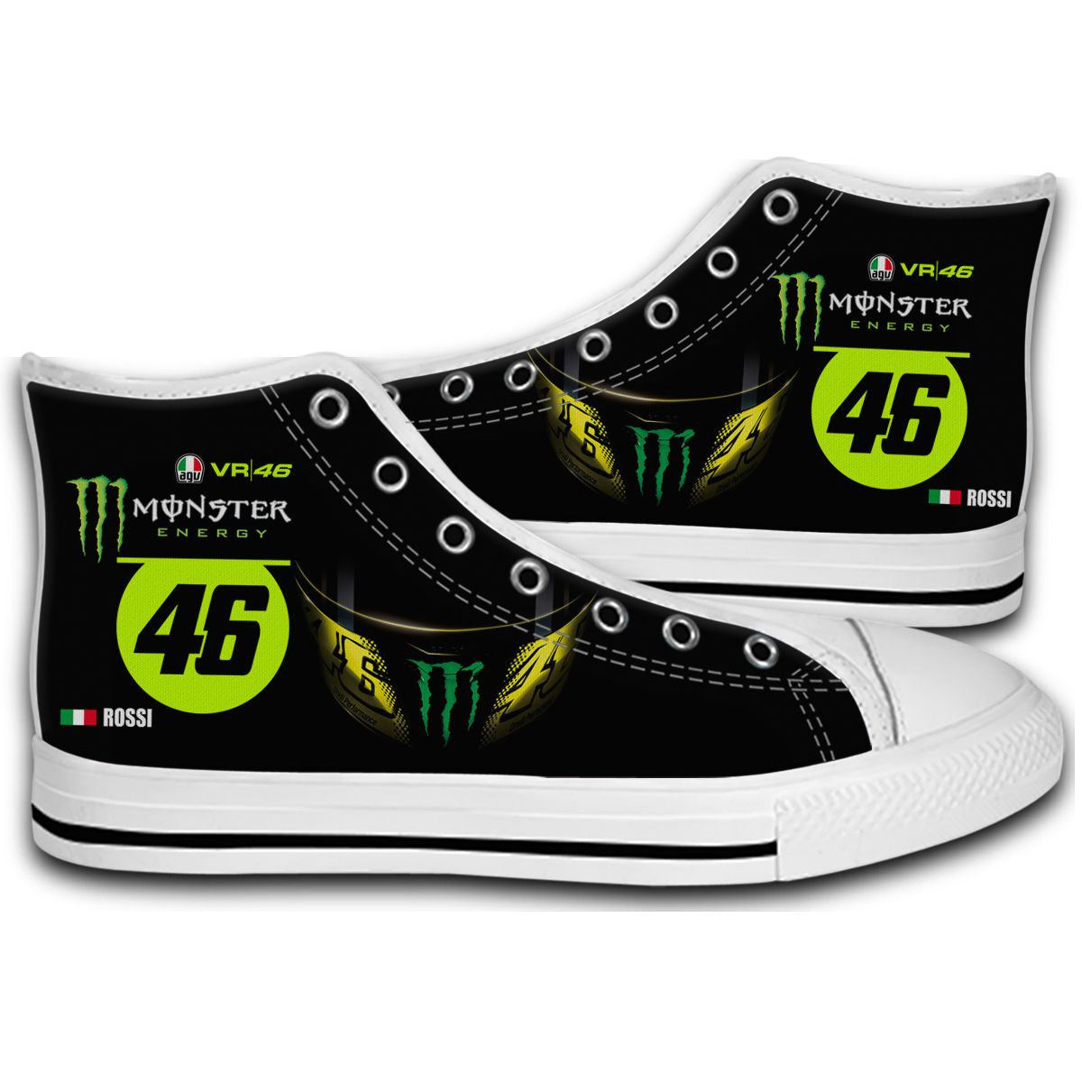 2016 Valentino Rossi Monster 46 Monza Rally Moto GP CANVAS STYLE SHOES FASHION SNEAKERS