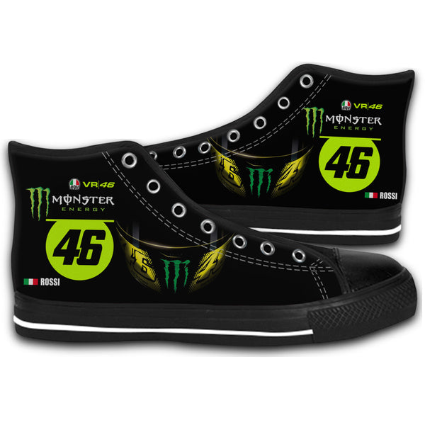 2016 Valentino Rossi Monster 46 Monza Moto GP Canvas Style Shoes Fashion Sneakers