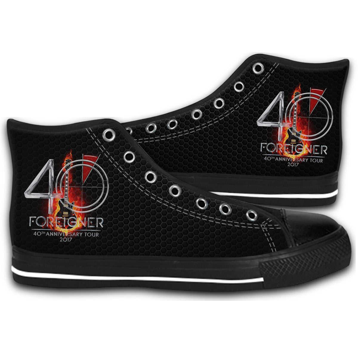 40Th Anniversary Foreigner Tour Dates 2017 CANVAS STYLE SHOES FASHION SNEAKERS