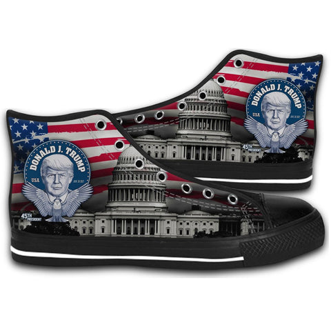 45th President Of the Trump CANVAS STYLE SHOES FASHION SNEAKERS