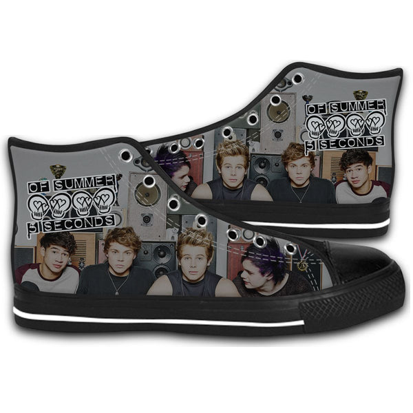 5 Seconds of Summer Tour CANVAS STYLE SHOES FASHION SNEAKERS