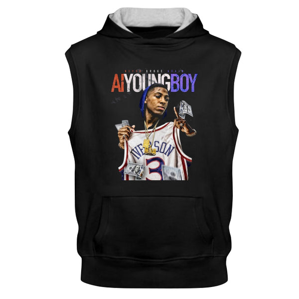 A.I Youngboy Never Broke Again 1 Side New Sleeves Hoodie Tee Shirt