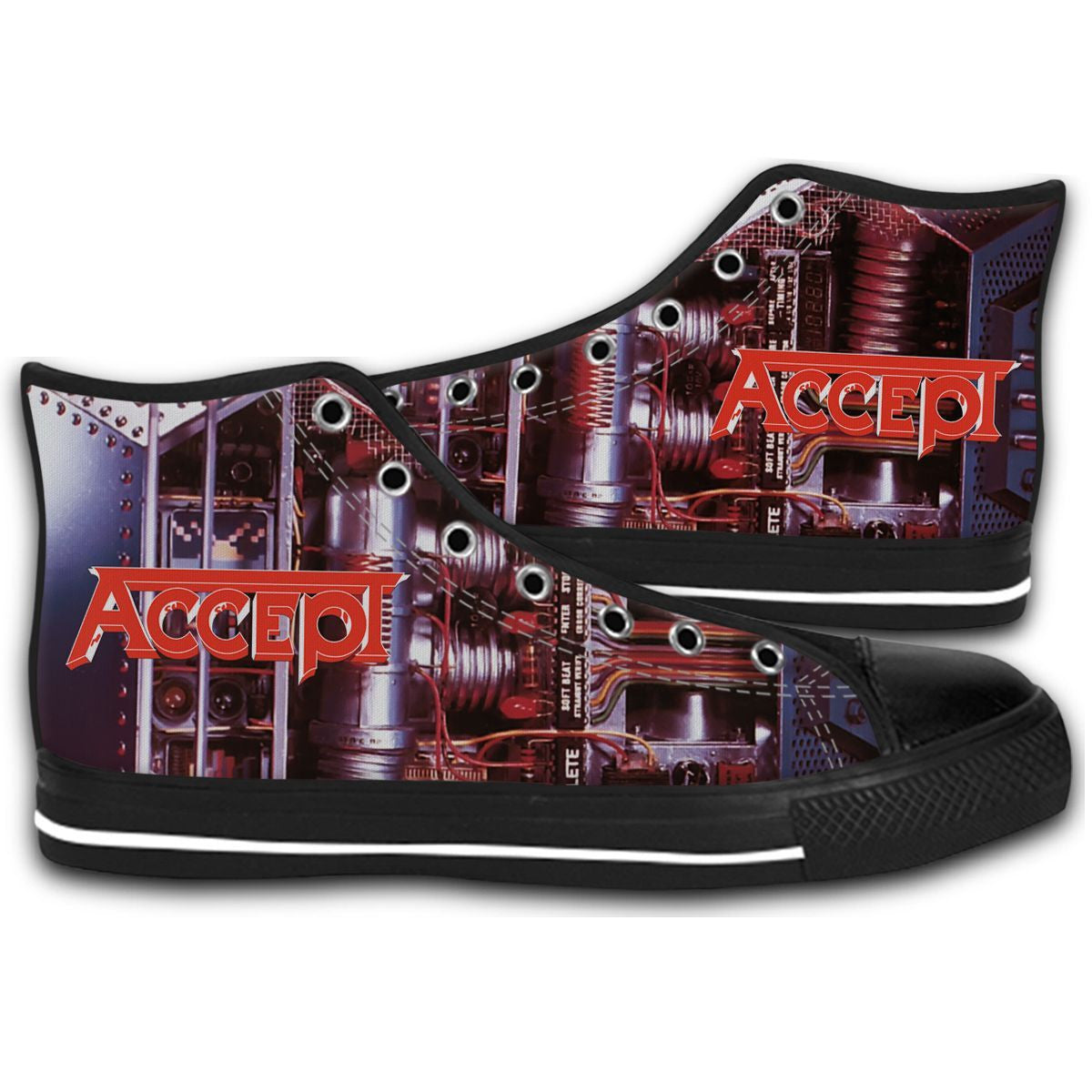 ACCEPT Metal Heart heavy Running Wild CANVAS STYLE SHOES FASHION SNEAKERS