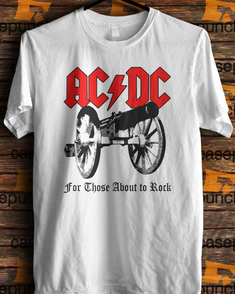 Sr9-acdc For Those About To Rock T-shirt (longsleeve Crop Top Tank Top & Hoodie Available)