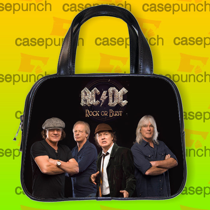 An3-ac Dc Rock Or Bust 2015 Tour Handbag Purse Woman Bag Classic