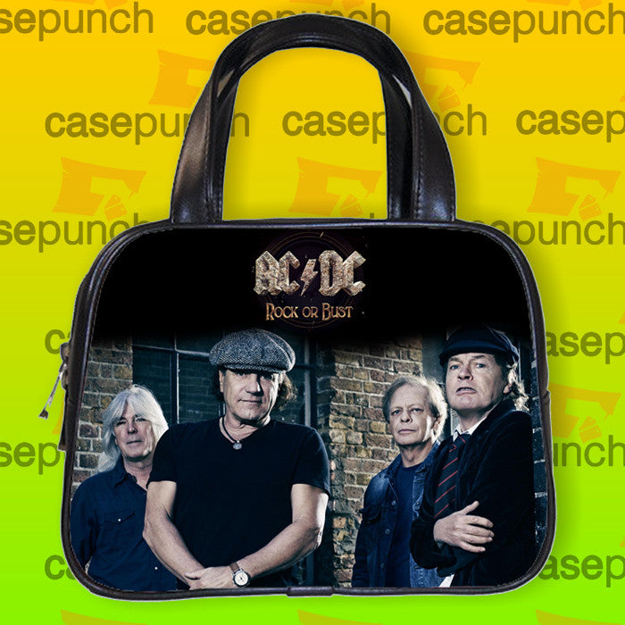 An7-ac Dc Rock Or Bust 2015 Tour Handbag Purse Woman Bag Classic