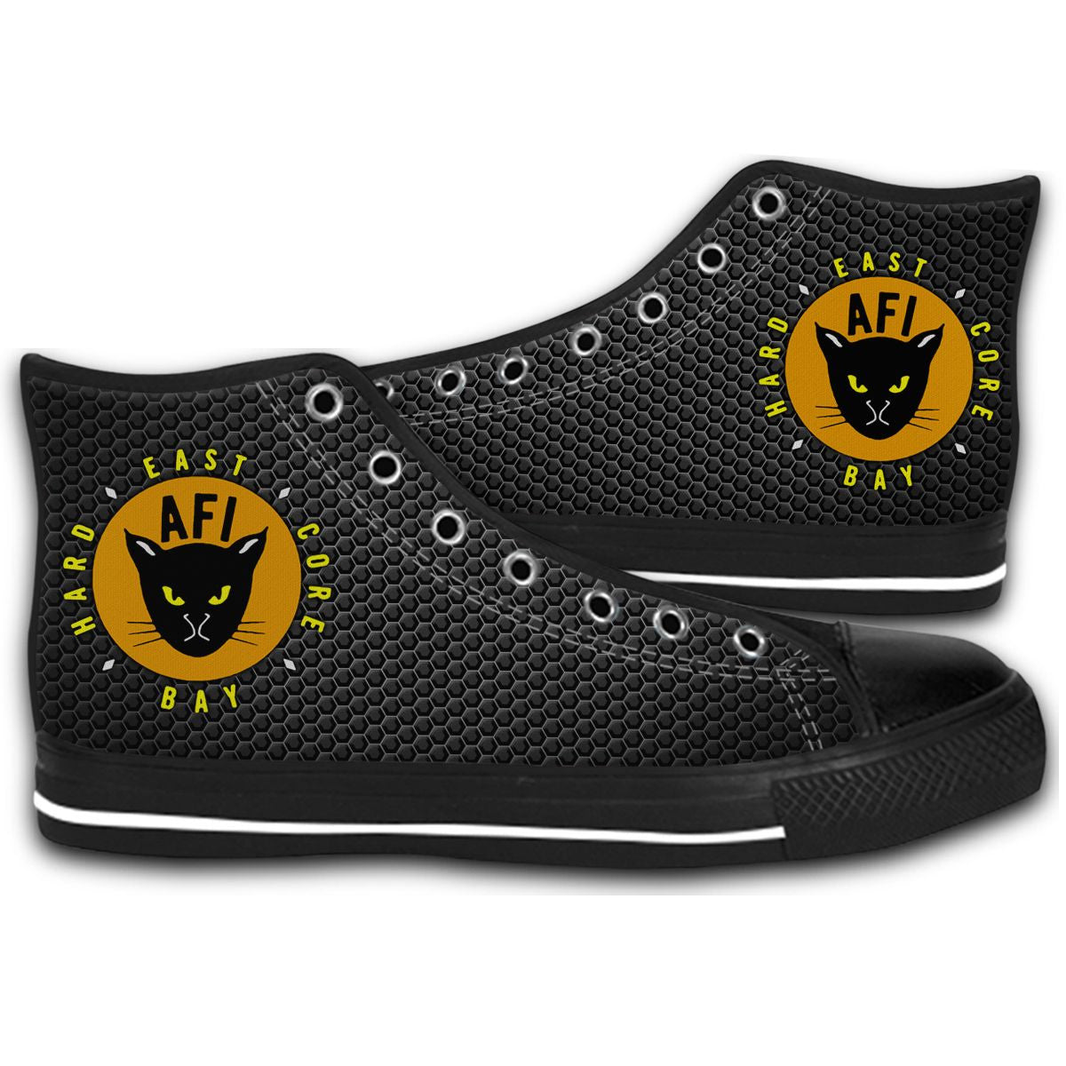 AFI EAST KITTY ROCK Music Legend CANVAS STYLE SHOES FASHION SNEAKERS