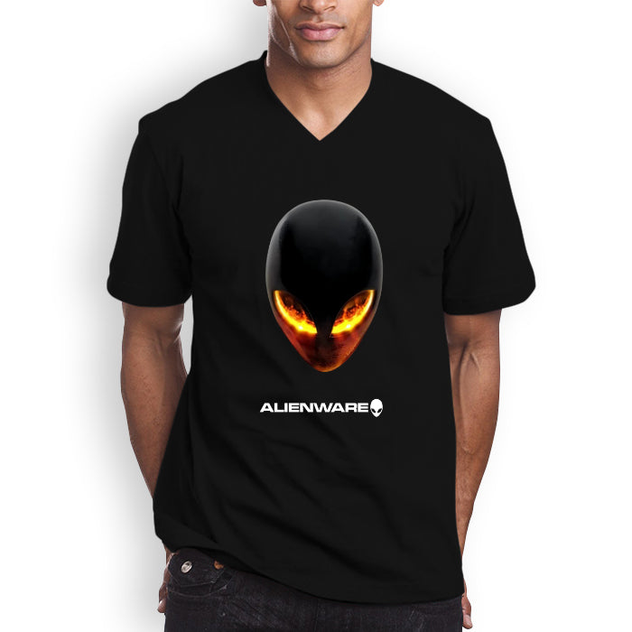 ALIENWARE Laptop Notebook Gaming Logo Men's V-Neck T-shirt (longsleeve Crop  Top Tank Top & Hoodie Available)
