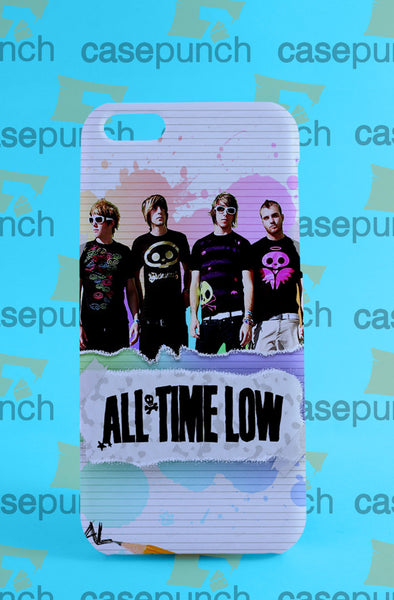 Mz1-all Time Low Punk Pop Band For Iphone 6 6 Plus 5 5s Galaxy S5 S5 Mini S4 & Other Smartphone Hard Back Case Cover