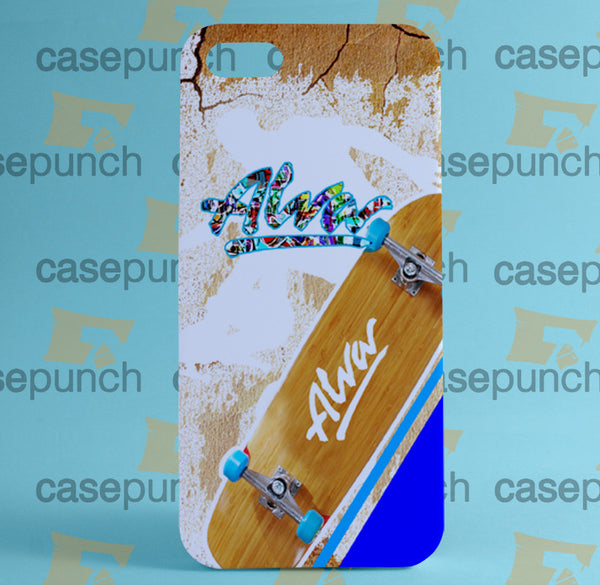 Mz1-alva Skateboard Skate Decks Logo For Iphone 6 6 Plus 5 5s Galaxy S5 S5 Mini S4 & Other Smartphone Hard Back Case Cover