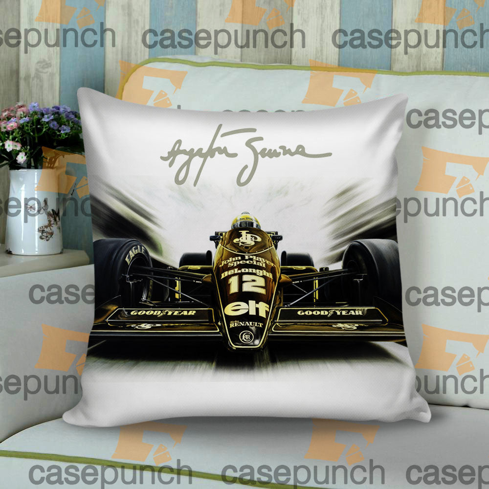 Sr1-ayrton Senna Lotus Cushion Pillow Case