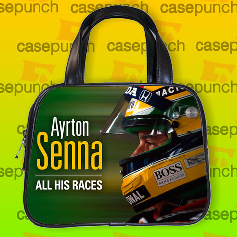 An1-ayrton Senna Lotus Handbag Purse Woman Bag Classic