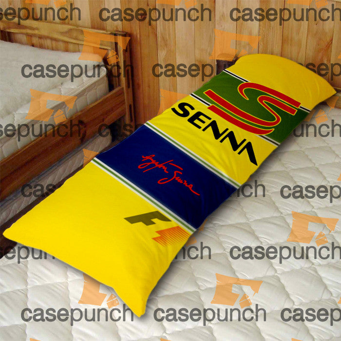 An1-ayrton Senna Brazil F1 Logo Body Pillow Case