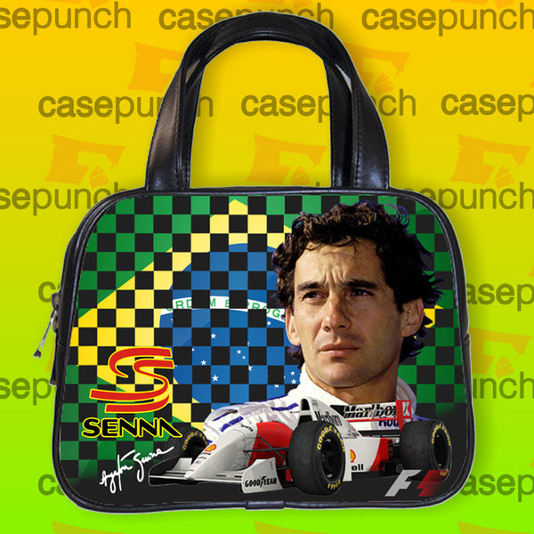 An1-ayrton Senna Brazil F1 Logo Handbag Purse Woman Bag Classic