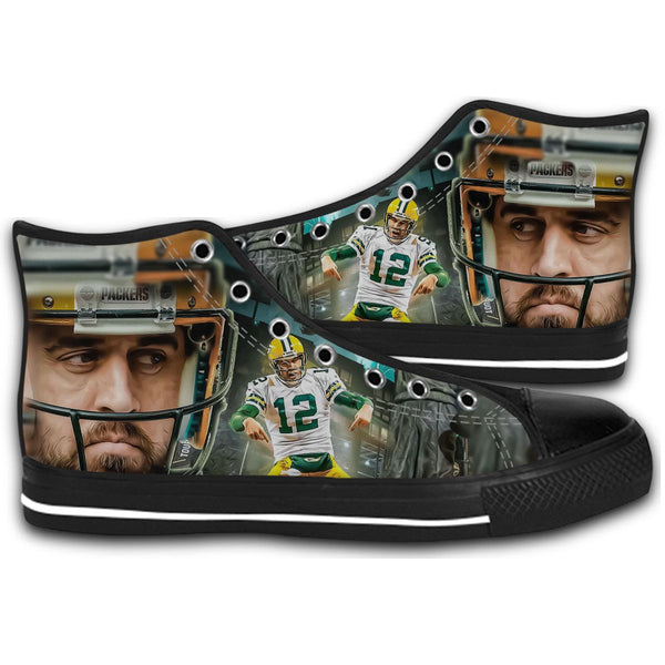 AaronRodgers12 Rugby Team Golden Bears CANVAS STYLE SHOES FASHION SNEAKERS