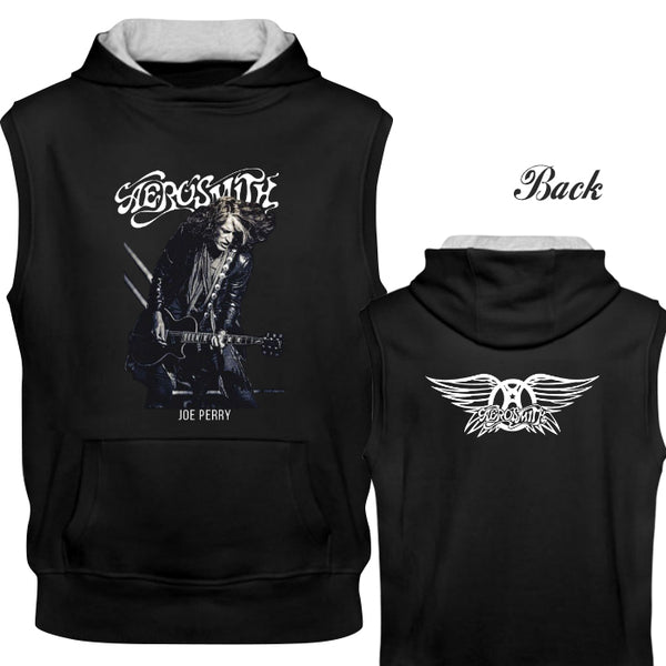 Hot Aerosmith Joe Perry Wings Logo 2 Side New Sleeves Hoodie Tee