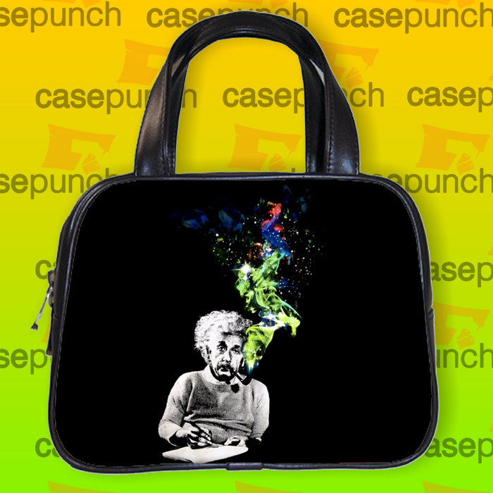 An1-albert Einstein Smoking Universe Cosmos Handbag Purse Woman Bag Classic