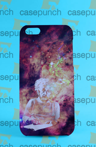 Mz1-albert Einstein Smoking Universe Cosmos For Iphone 6 6 Plus 5 5s Galaxy S5 S5 Mini S4 & Other Smartphone Hard Back Case Cover
