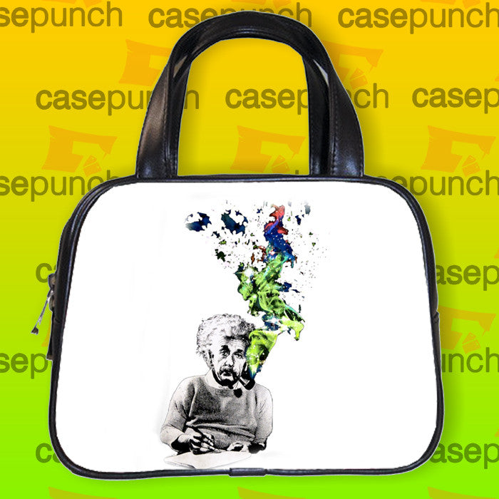 An2-albert Einstein Smoking Universe Cosmos Handbag Purse Woman Bag Classic