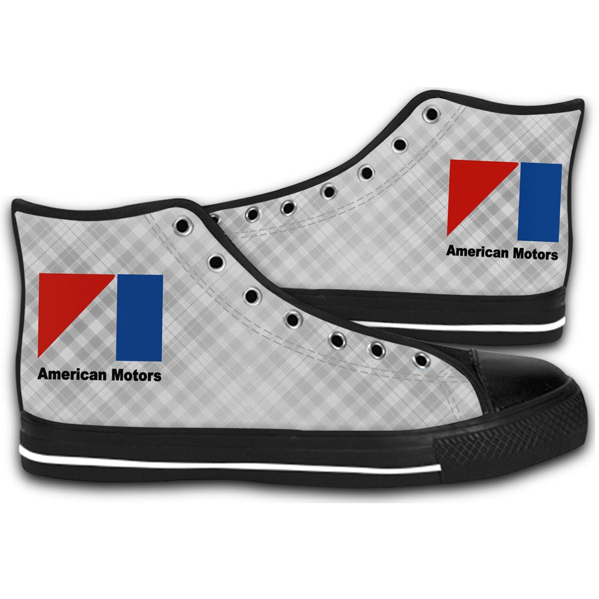 American Motors AMC Corp Logo CANVAS STYLE SHOES FASHION SNEAKERS