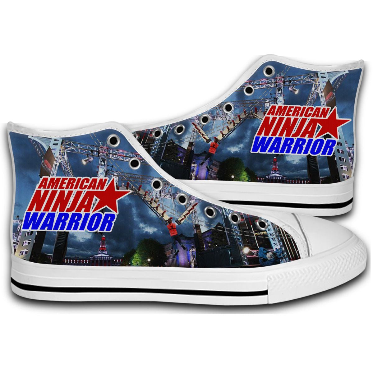 American Ninja Warrior Obstacle Course CANVAS STYLE SHOES FASHION SNEAKERS