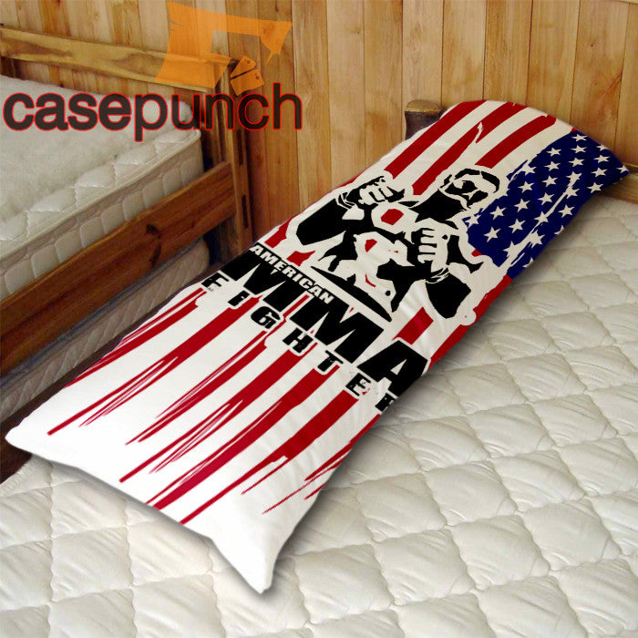 An1-american Fighter Baylor Mma Logo Body Pillow Case