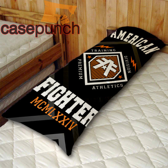 An2-american Fighter Baylor Mma Logo Body Pillow Case