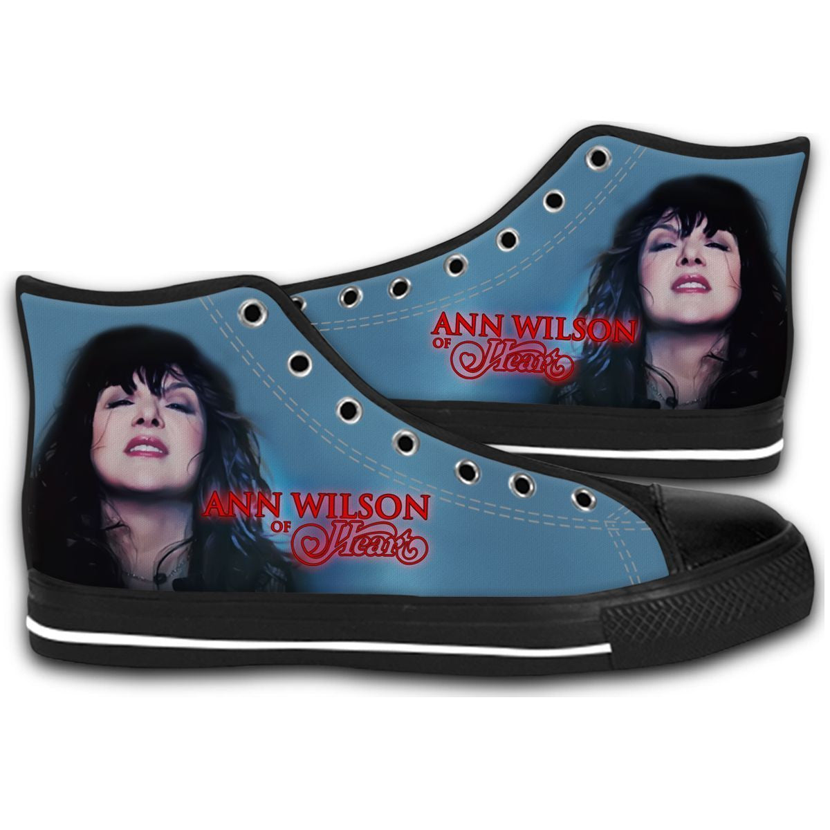 Ann Wilson of Heart solo tour concert 2017 CANVAS STYLE SHOES FASHION SNEAKERS