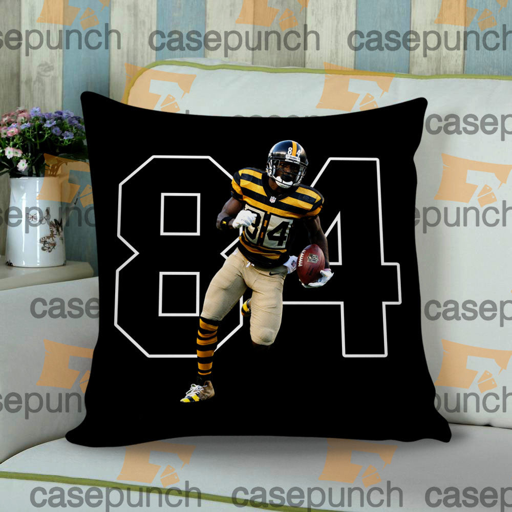 Sr1-antonio Brown 84 Pittsburgh Steelers Cushion Pillow Case