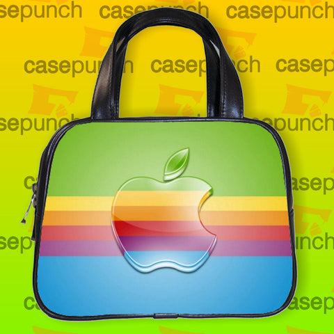 An1-apple Computer 80s Rainbow Logo Handbag Purse Woman Bag Classic