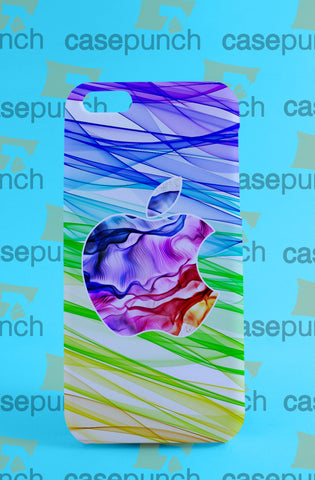 Mz1-apple Computer 80s Rainbow Logo For Iphone 6 6 Plus 5 5s Galaxy S5 S5 Mini S4 & Other Smartphone Hard Back Case Cover