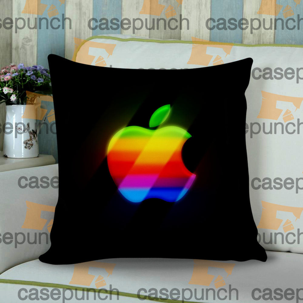 Sr1-apple Computer 80s Rainbow Logo Cushion Pillow Case