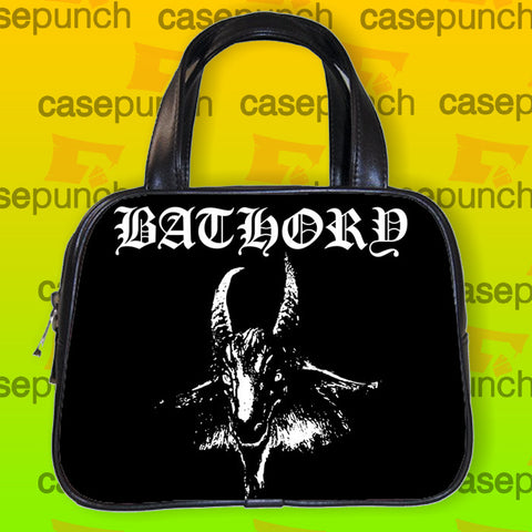 An1-bathory Black Metal Handbag Purse Woman Bag Classic