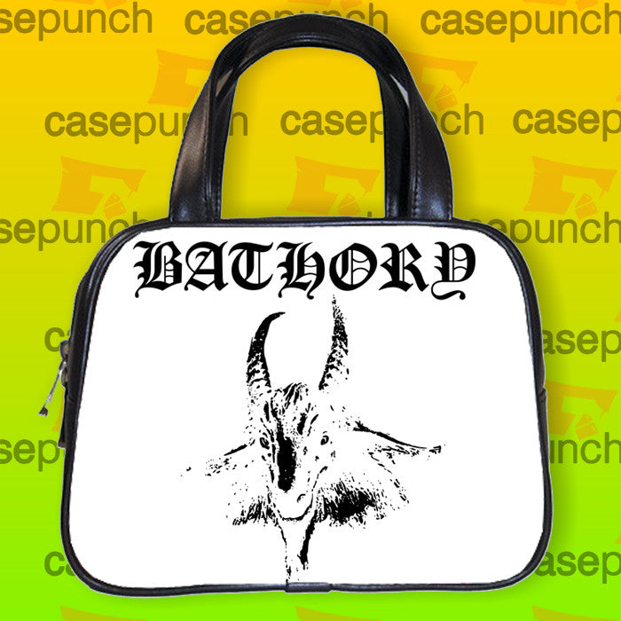 An2-bathory Black Metal Handbag Purse Woman Bag Classic