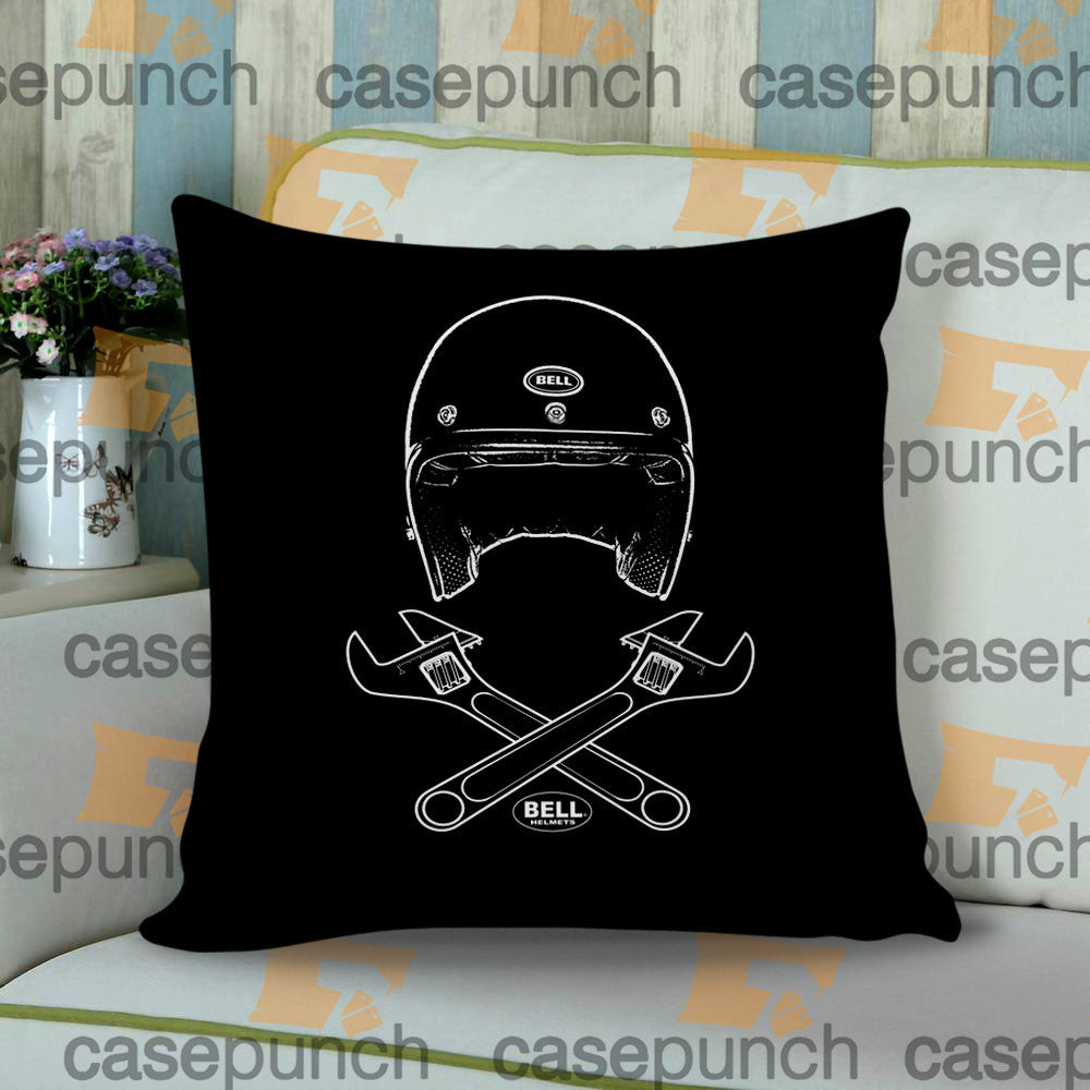 Sr1-bell Helmets  Bell & Wrenches Cushion Pillow Case