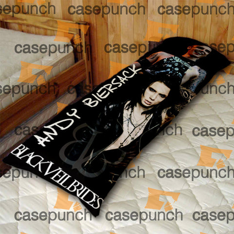 An1-black Veil Brides Andy Rock N Roll Body Pillow Case